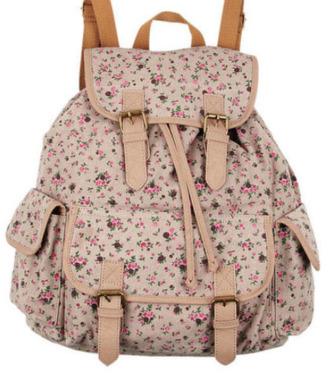 bag pastel flowers floral pink vintage