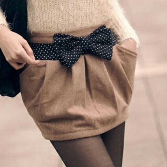 skirt brown skirt fall outfits wool