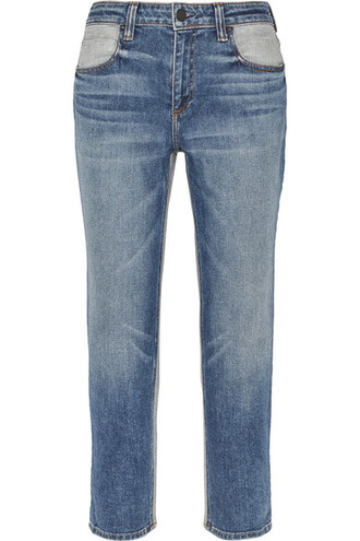 jeans denim cropped high