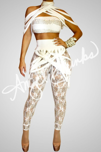 print jumpsuit two-piece strappy