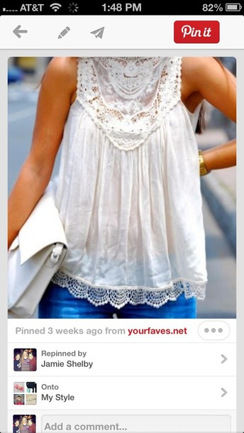 shirt lace white halter neck