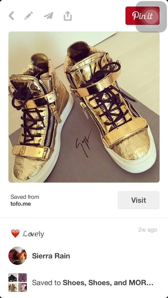 shoes gold sneakers gold sneakers high top sneakers