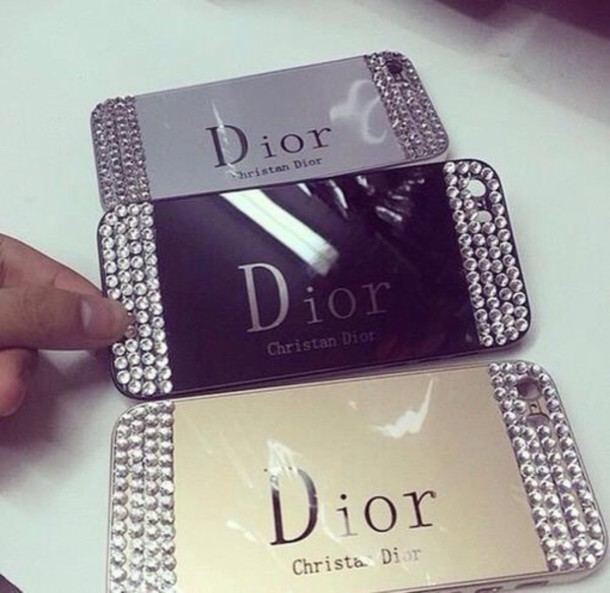 phone cover dior clitter accessories