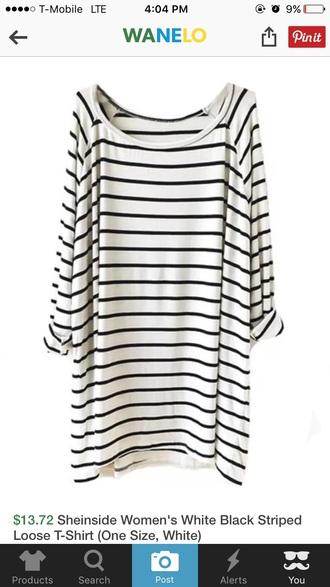 dress black and white striped shift dress