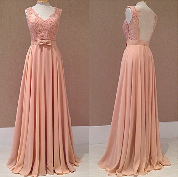 Open back formal evening gowns