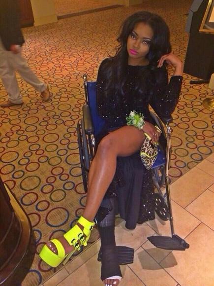 sequin dress black dresses black prom dress prom dress prom dresses 2014 long prom dresses long dress black long sleeves awards dress shoes heels, green,