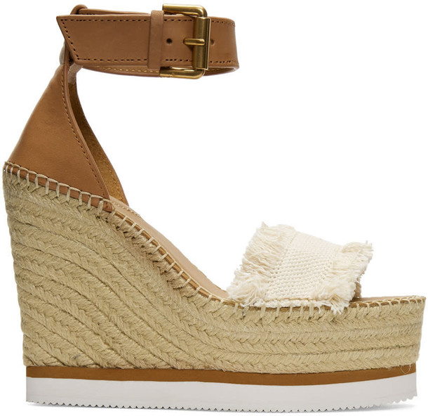sandals wedge sandals beige shoes