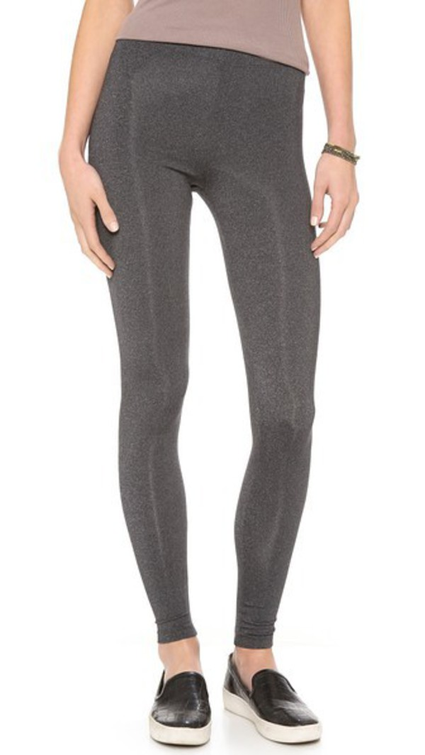David Lerner Classic High Rise Leggings in charcoal