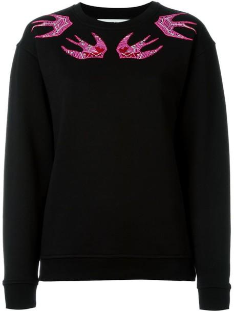 sweatshirt embroidered black sweater
