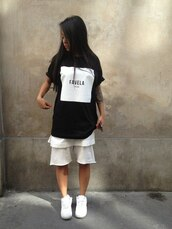 t-shirt,favela,black,white,chinese,harlem,dope,swag