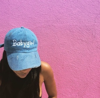 hat baby girl bleu baby girl pink babygirl hat denim tumblr