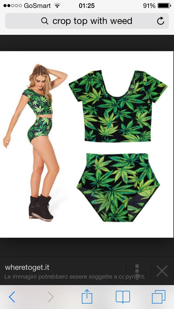 top black green weed