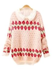 sweater,strawberry,lolita,kawaii,cool,cute sweaters,tumblr sweater,blouse,strawberry sweather pink sweet candy