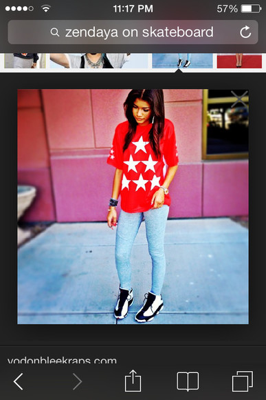 t shirt shirt pants white black jordans jays jeans stars red blue watches zendaya coleman, shirt, pants zendaya coleman bracelets