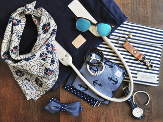 sunglasses summer accessories blue navy navy blue sweater handbag scarf print bracelets stripes watch classy summer holidays nautical leather mirrored sunglasses