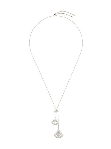 Apm women shell necklace silver grey metallic jewels