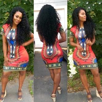 dress dashiki african print