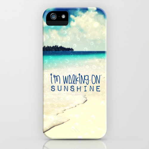 I'M WALKING ON SUNSHINE - for iphone iPhone & iPod Case by Simone Morana Cyla | Society6