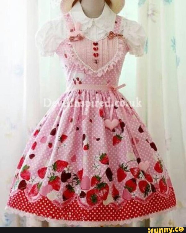 dress cute dress red dress pink dress dd/lg kawaii lolita cute patterned dress