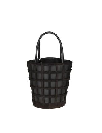 bag bucket bag leather black black leather