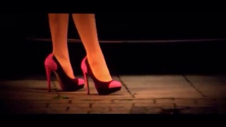 shoes pink shoes high heels tv/movies redheels