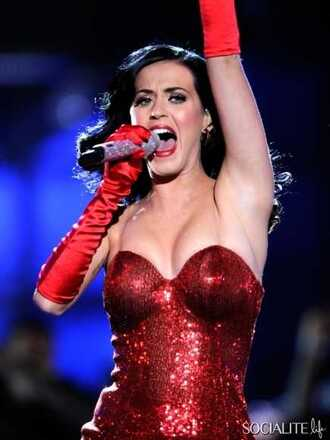 dress red katy perry sexy