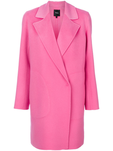 theory coat style women wool purple pink
