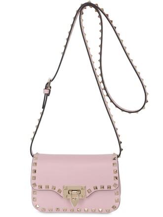 mini bag shoulder bag leather light pink light pink
