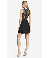 LACE SKATER DRESS - BLACK from EXPRESS