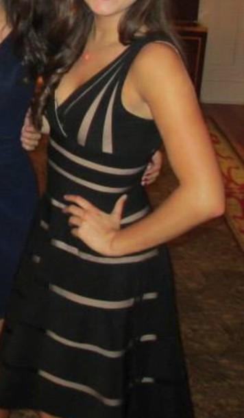 dress toupe stripes black dress formal natural waist