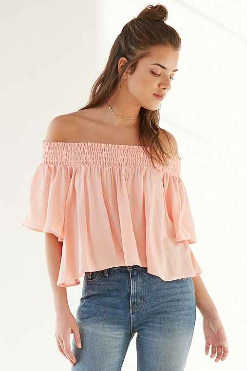 3c0821b733f8c Kimchi Blue Smocked Off-The-Shoulder Top - Urban Outfitters