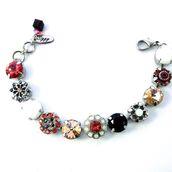 jewels,siggy jewelry,swarovski,bracelets,bling,sparkle,arm candy,flowers,trendy