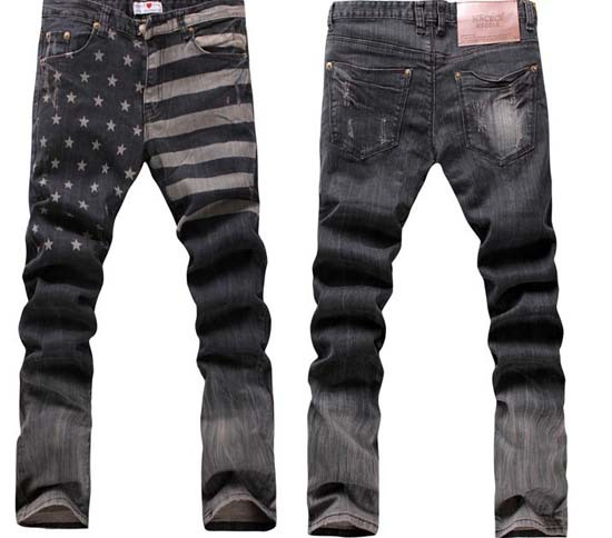 Denim harem sweatpants skinny jeans men 2013 hiphop rivet the stars and the stripes trousers wf13020501