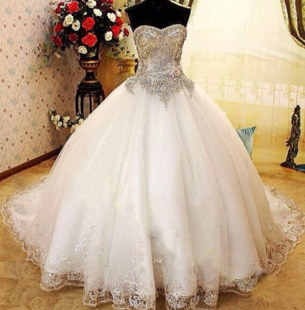 Wedding Gowns with Rhinestones
