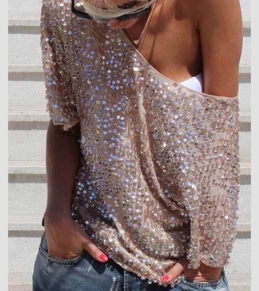 glitter blouse sequins sweater cute sweaters cute outfits shirt