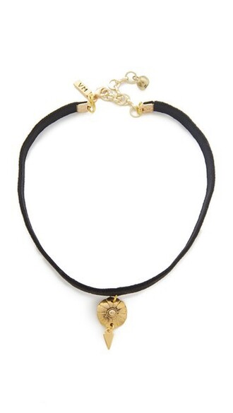 necklace choker necklace gold black jewels