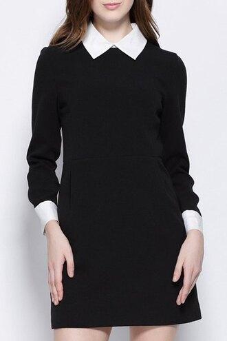 dress black dress black dark goth goth hipster peter pan collar classy