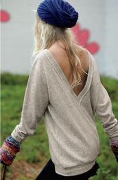 sweater,vback,cute sweaters,open back,gorgeous