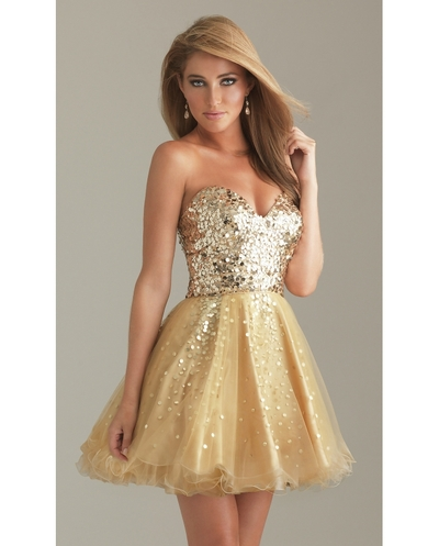Gold sequins short prom dress · Humbly Glam · Online Store Powered by Storenvy
