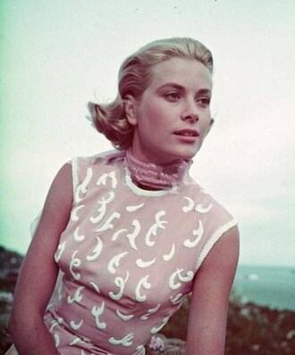 dress nude dress grace kelly actress scarf hairstyles natural makeup look retro dress retro