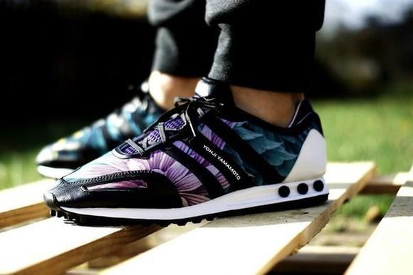 floral sneakers 103 menswear mens shoes yohji yamamoto adidas