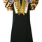 Dsquared2 - exaggerated sleeve military dress - women - cotton/polyester/viscose - 40, black, cotton/polyester/viscose