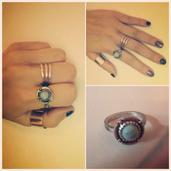 jewels silver ring onyx numberring midiring fleamarket silverring