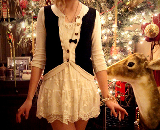 cardigan black and white knitted cardigan bows bow button up dress