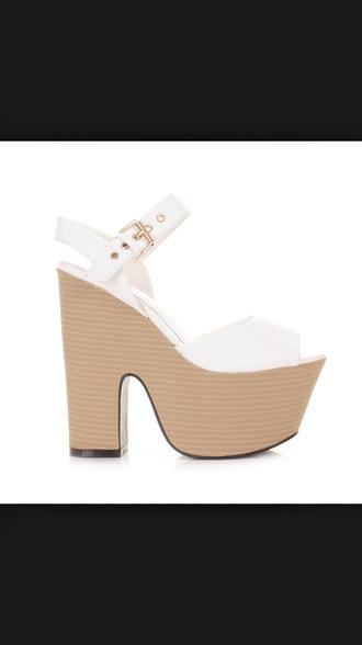 shoes white heels high heels trendy style platform heels wedding dress