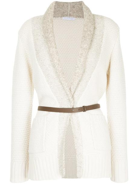 Fabiana Filippi cardigan cardigan women white cotton silk knit sweater