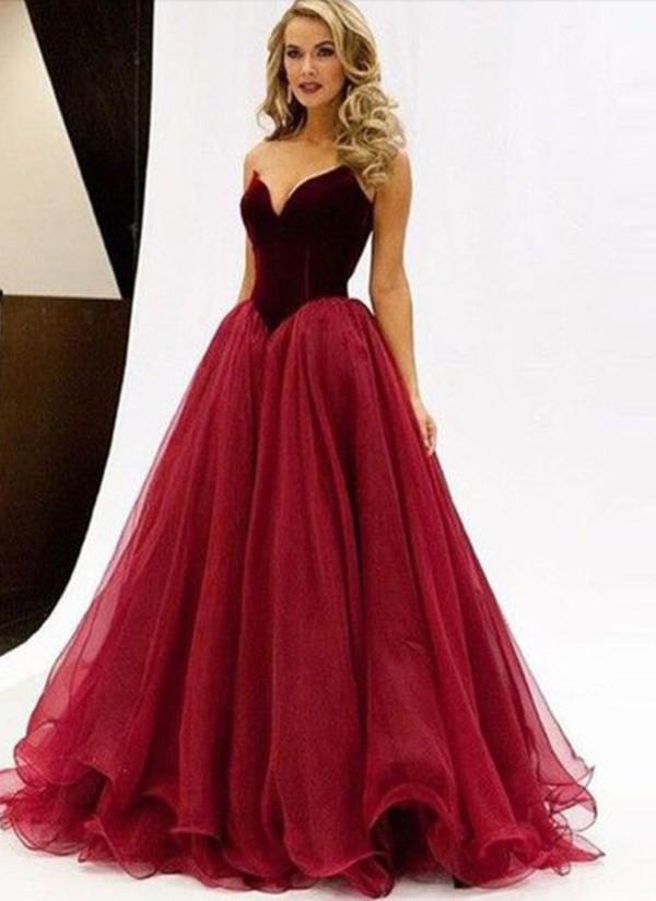 dd1fa05e60 dress velvet dress prom dress ball gown dress long prom dress red prom dress  long ball.