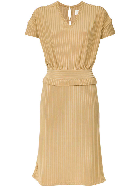 Lilly Sarti dress midi dress women midi spandex nude