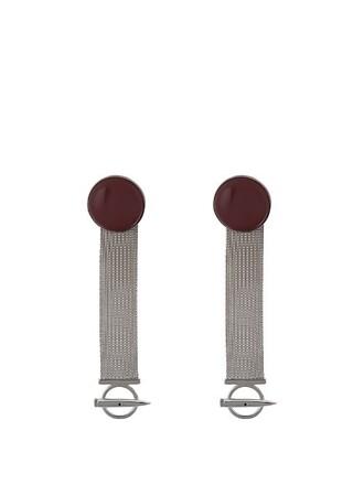 mesh earrings silver jewels