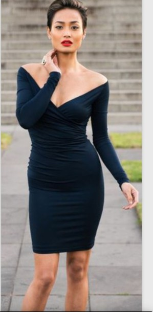 dress black black dress fashion style